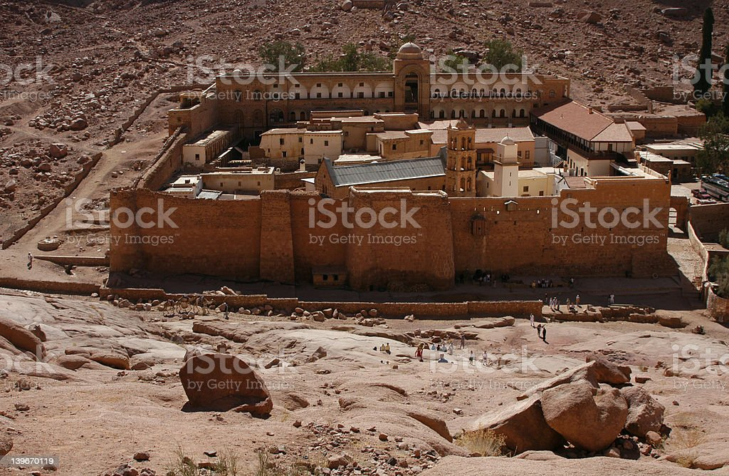 St. Catherine's Monastery royalty-free stock photo