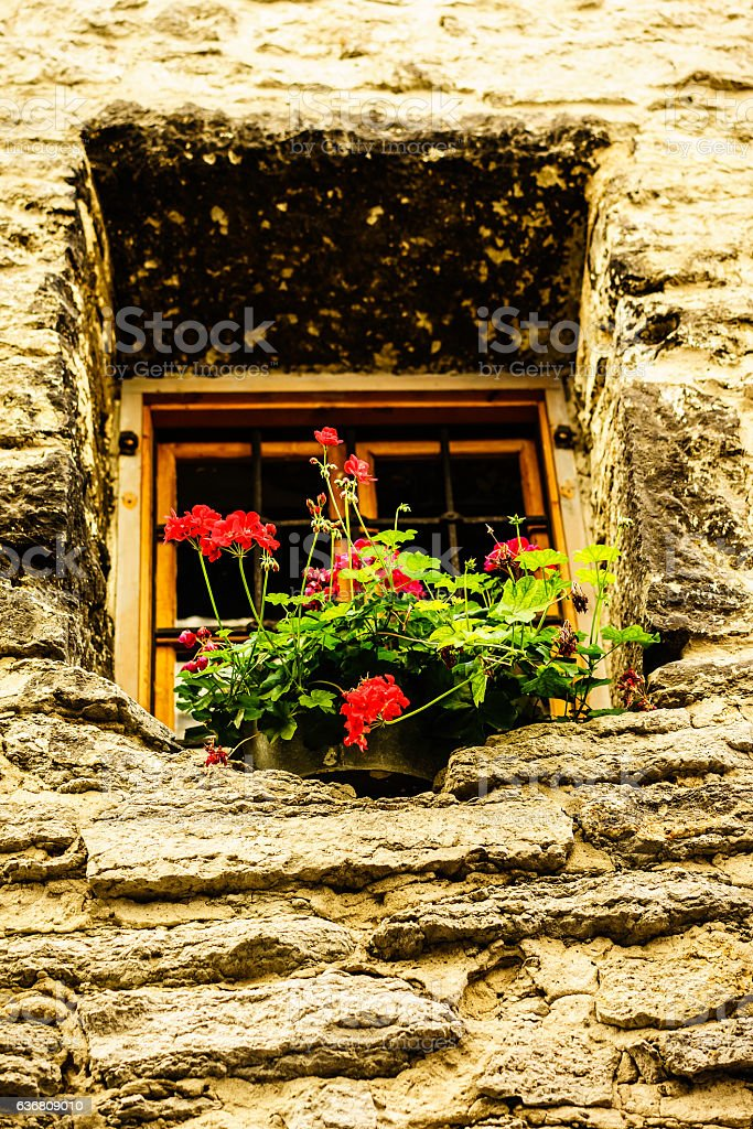 St. Catherine's Passage, Old Town, Tallinn, Estonia stock photo