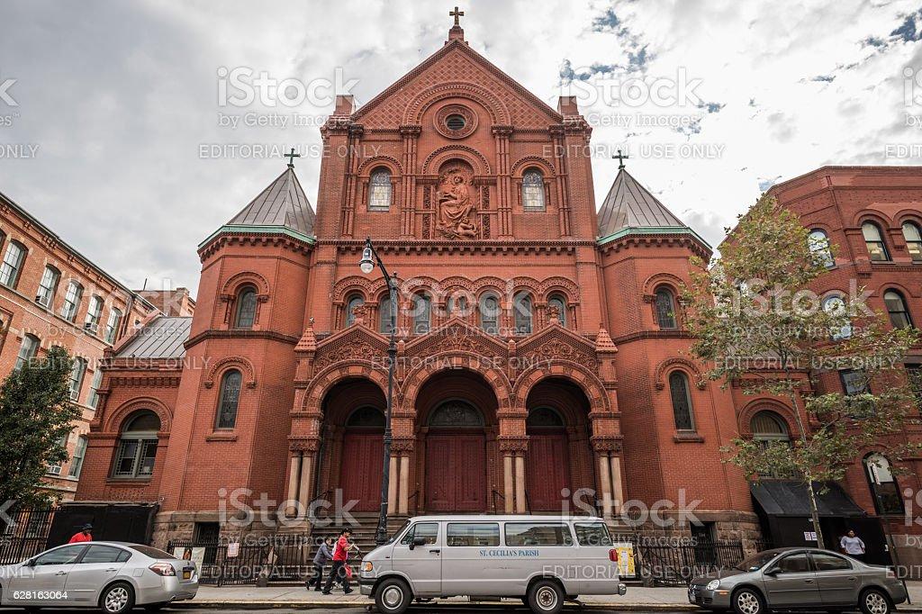 St. Cecilia's Church, Spanish Harlem, New York City, United States stock photo