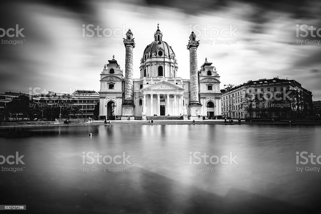 St. Charles's church in Vienna stock photo