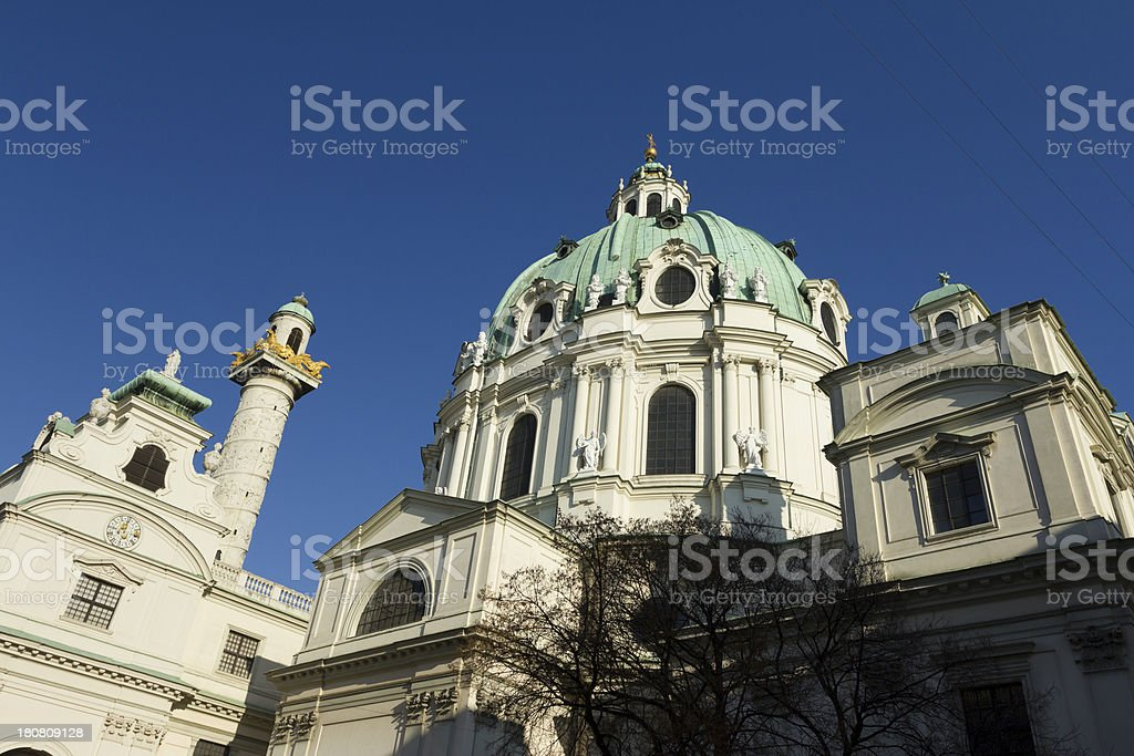 St. Charles's Church royalty-free stock photo