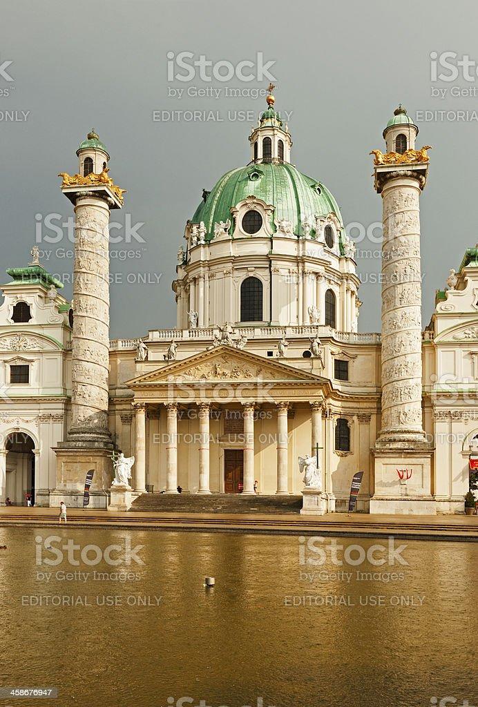 St. Charles's Church, Vienna stock photo