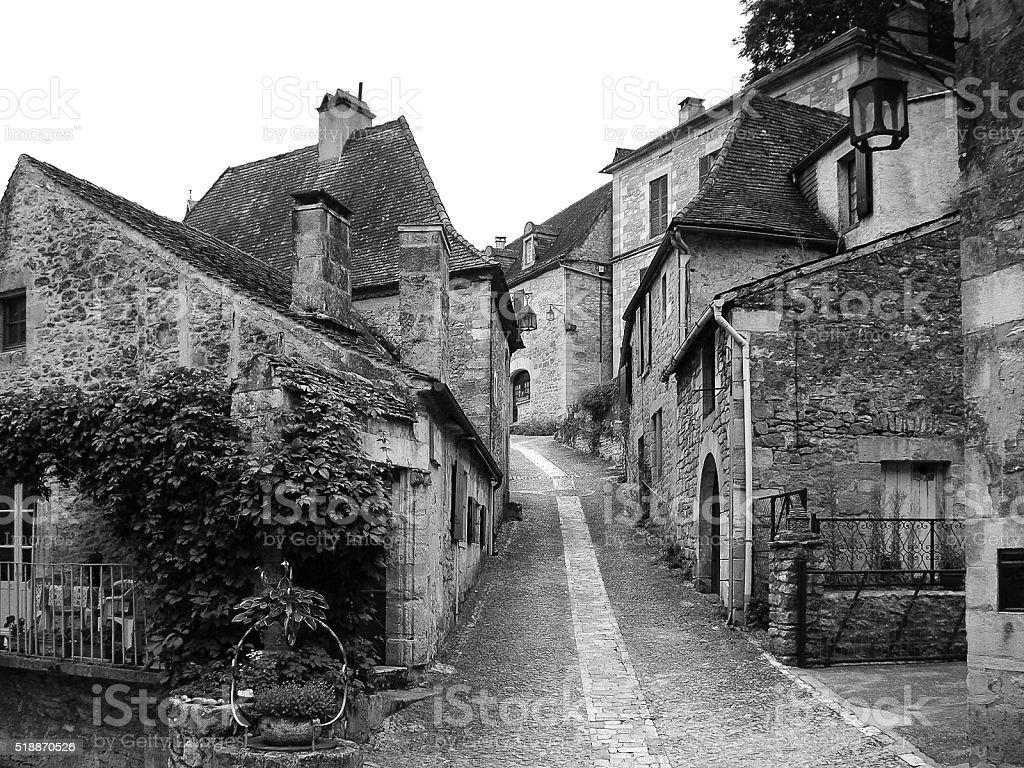 St Cirq Lapopie stock photo