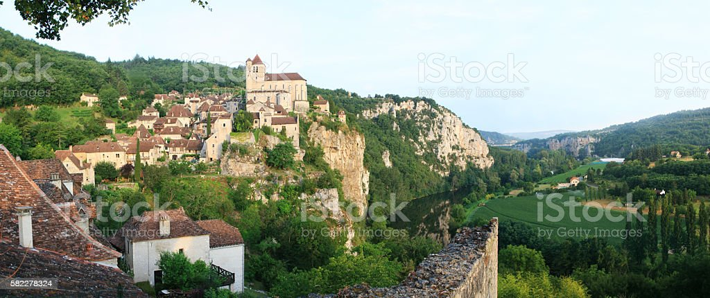 St Cirq Lapopie stock photo