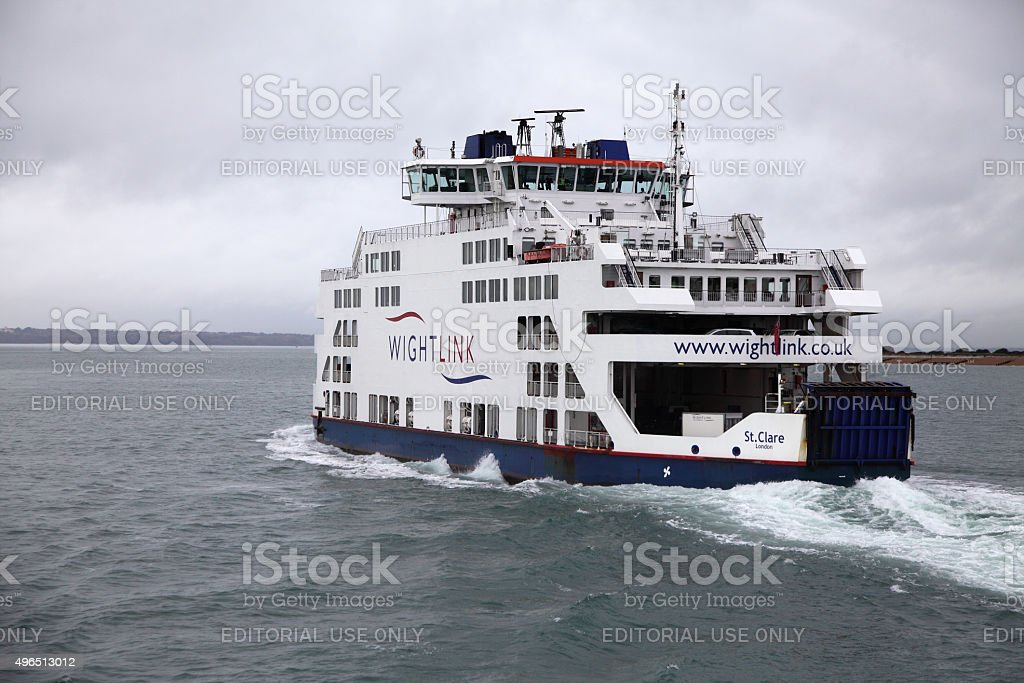 St Clare-Wight link ferry in Solent stock photo