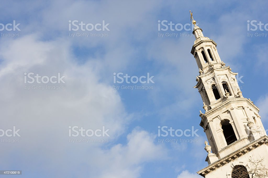 St Clement Danes on the Strand, London royalty-free stock photo