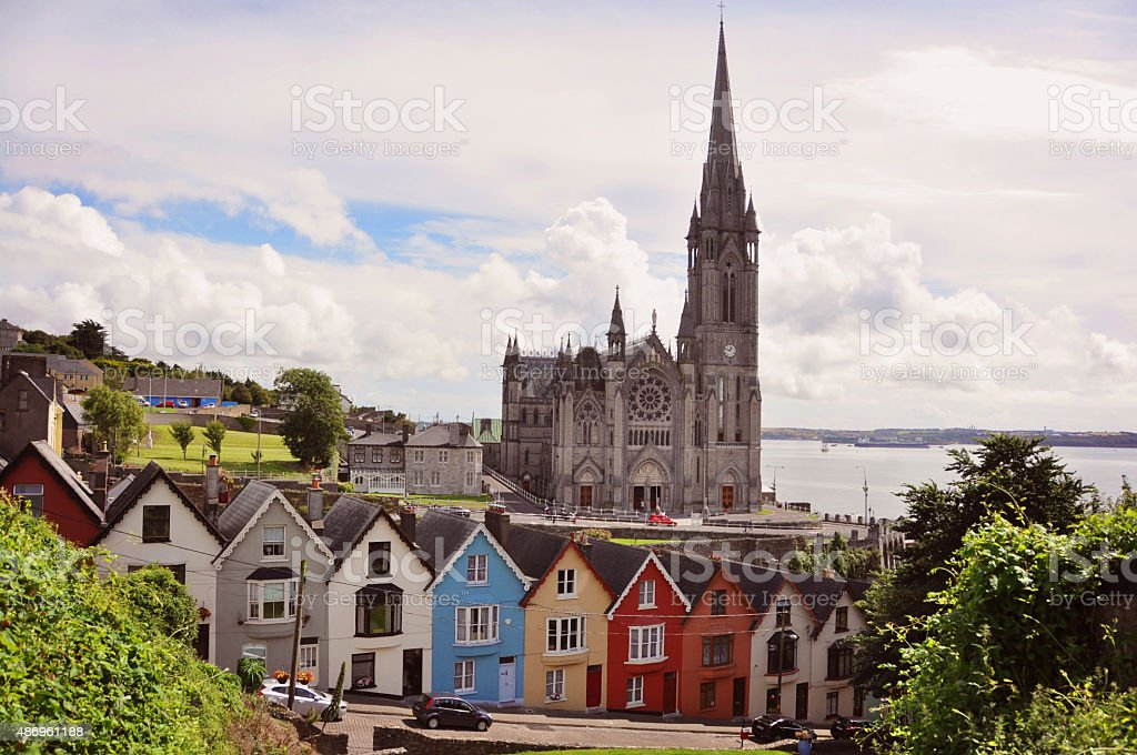 St. Coleman's Cathedral - Cobh - Ireland stock photo