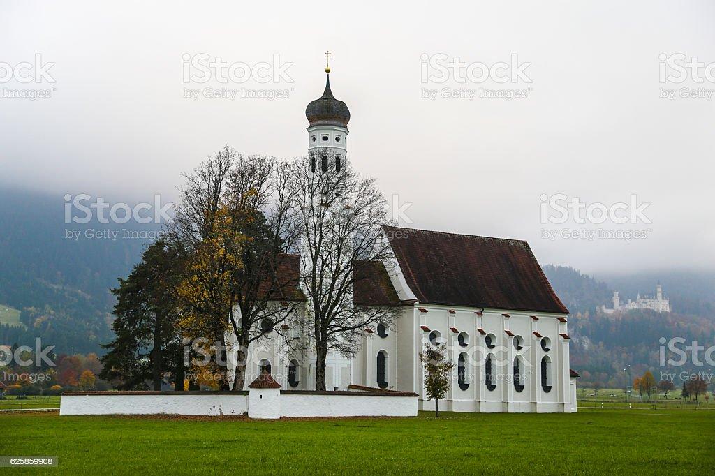 St. Coloman church stock photo