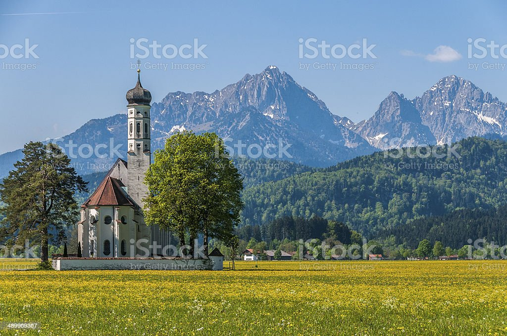 St Coloman Church, Schwangau, Bavaria, Germany stock photo