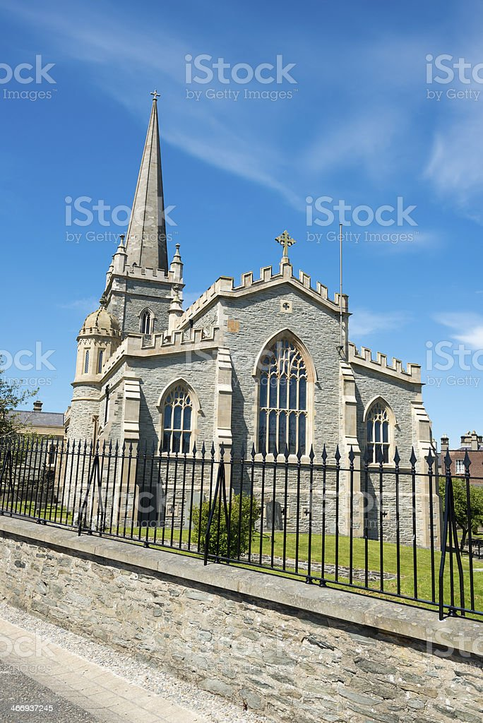 St. Columb's Cathedral in Derry, Northern Ireland stock photo
