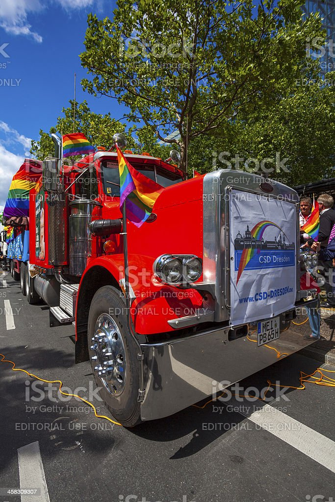 St Cristopher Street day parade in central Berlin stock photo