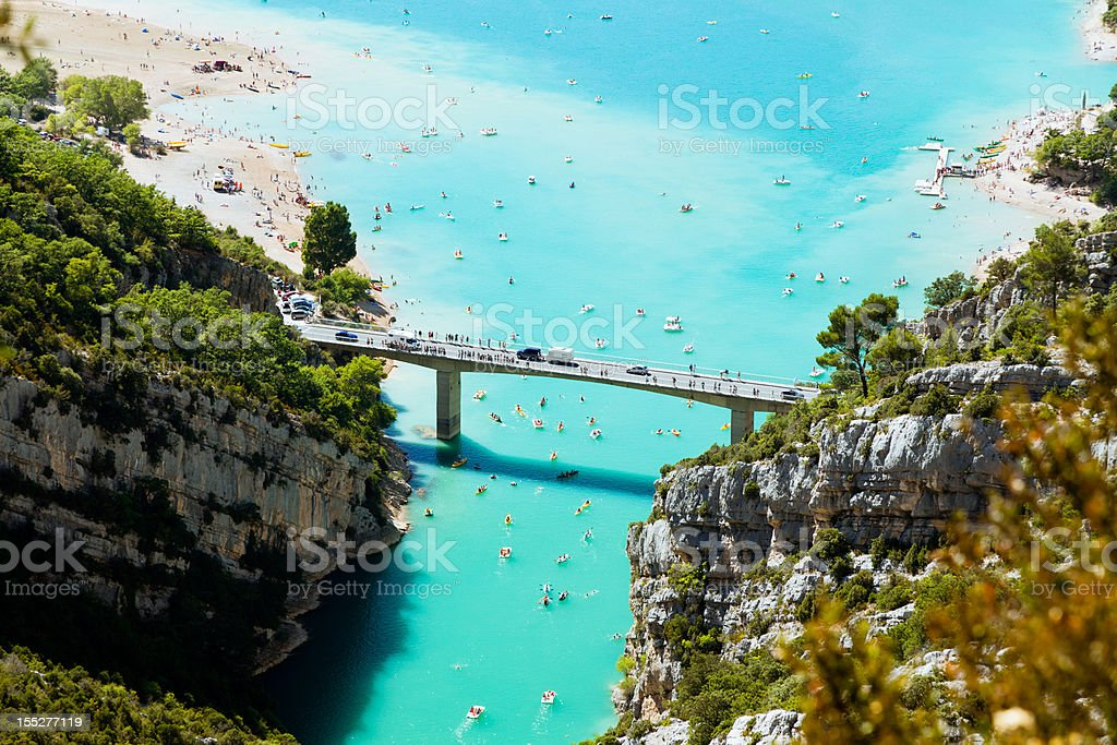 St Croix lake and Verdon River in France stock photo