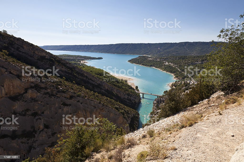 St Croix lake and Verdon River in France royalty-free stock photo