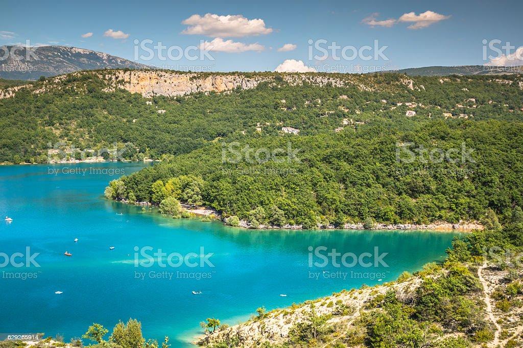 St Croix Lake, Les Gorges du Verdon, Provence, France stock photo