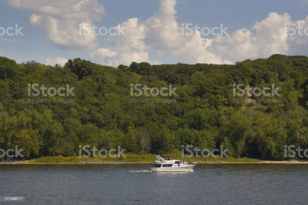 St. Croix River Boating stock photo