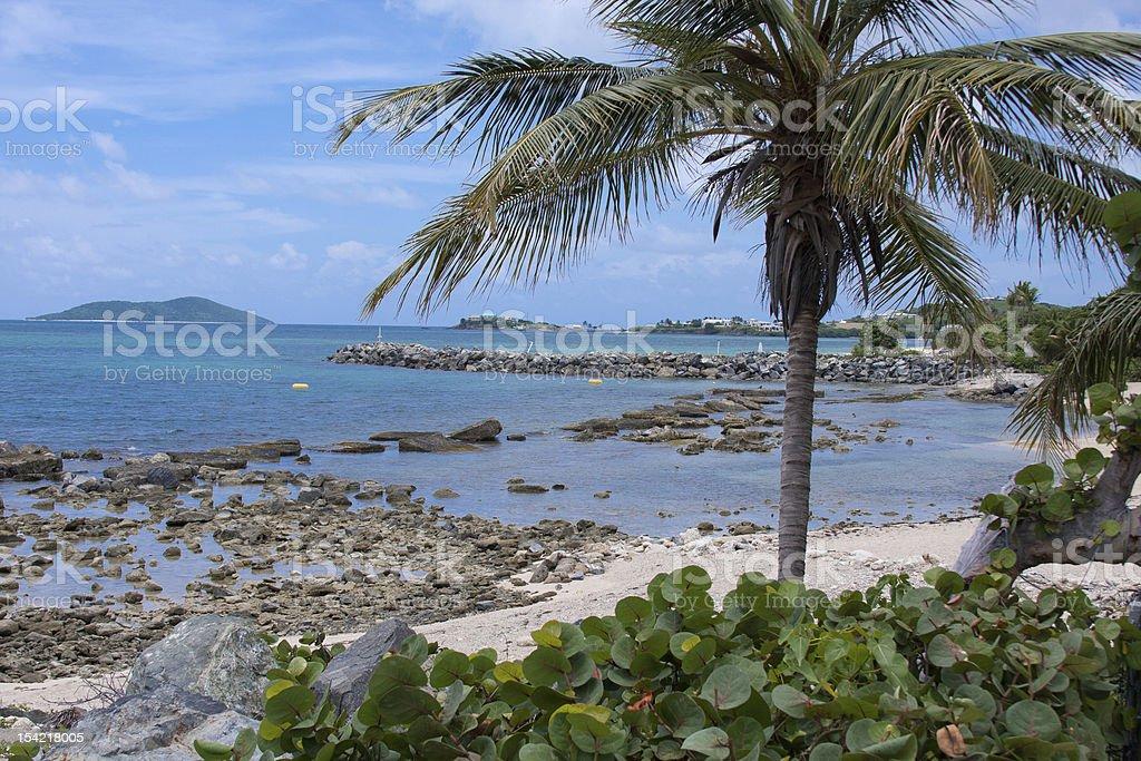 St Croix USVI beach stock photo