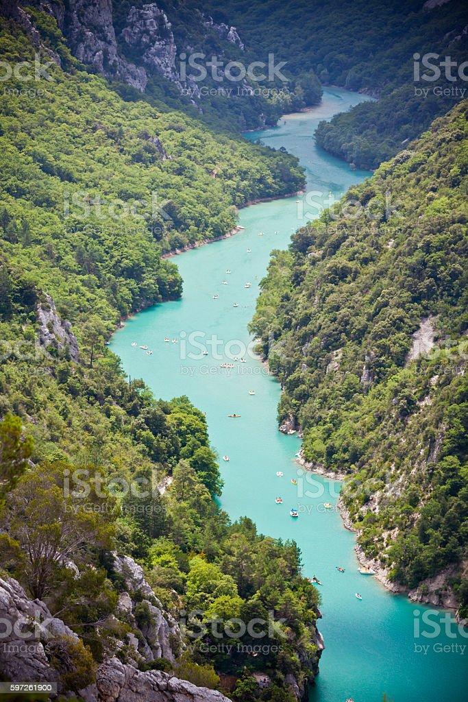 st croix lake les gorges du verdon provence france stock photo
