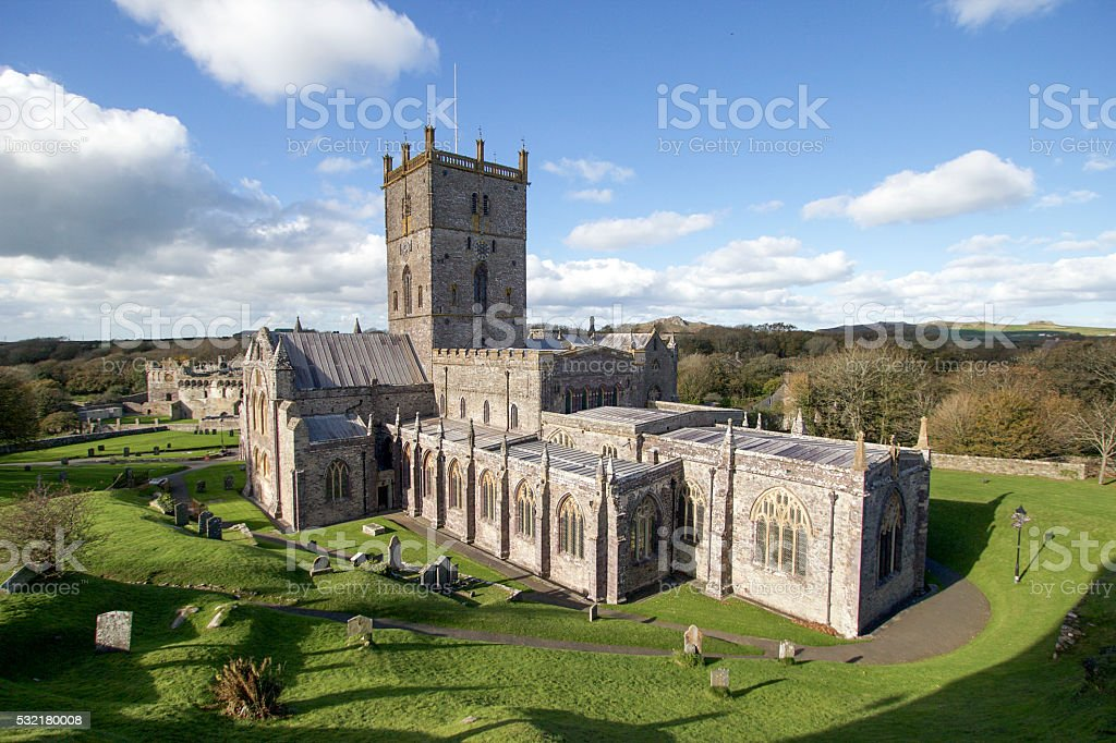 St David's Cathedral - Wales stock photo