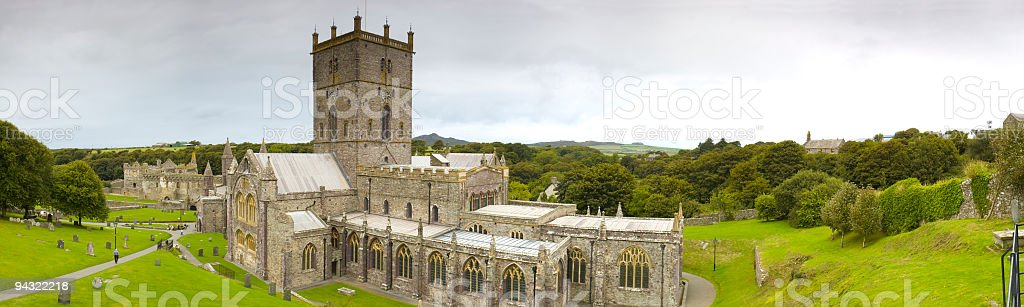 St Davids Cathedral Wales UK royalty-free stock photo