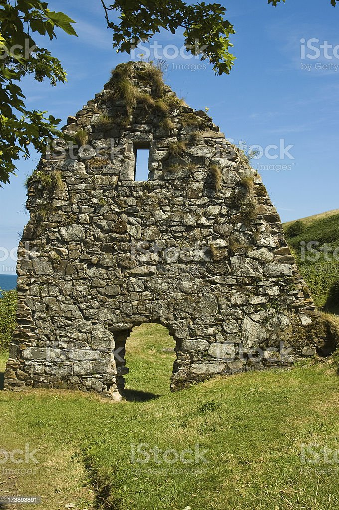 St Declan's Church Ardmore royalty-free stock photo