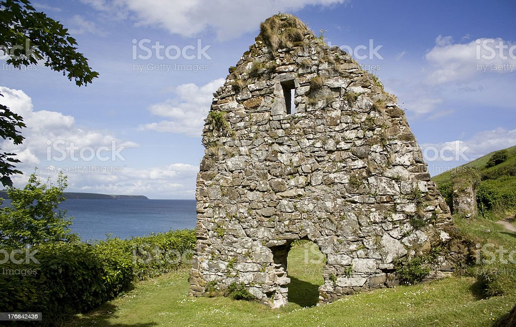 St. Declan's Well and Hermitage Church stock photo