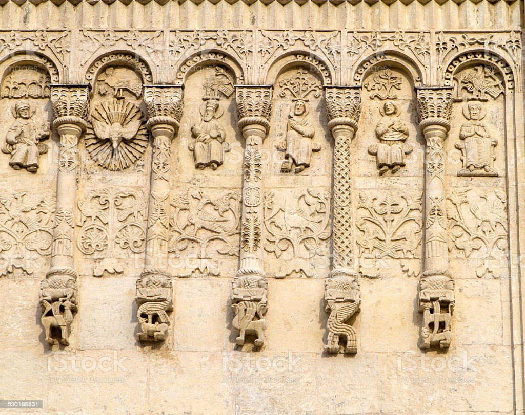 St. Demetrius Cathedral Carvings stock photo