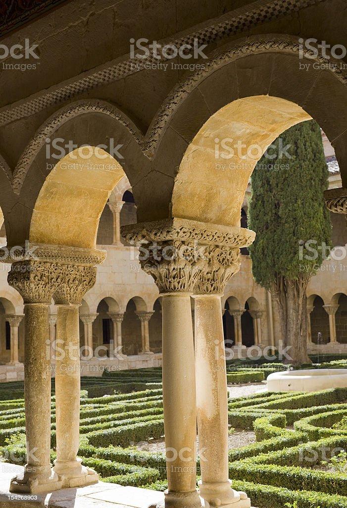 St. Domingo of Silos cloister stock photo