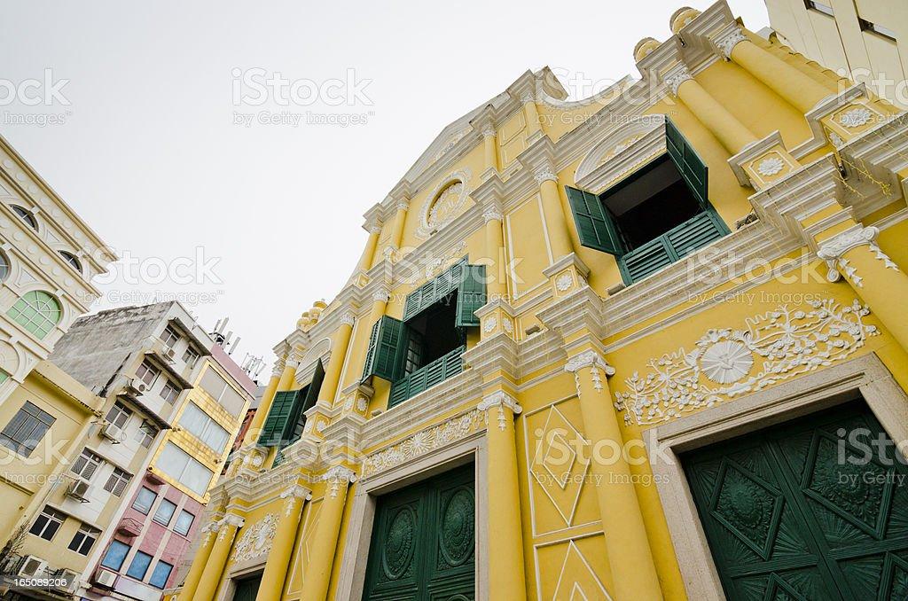 St. Dominic's Church in Macau stock photo
