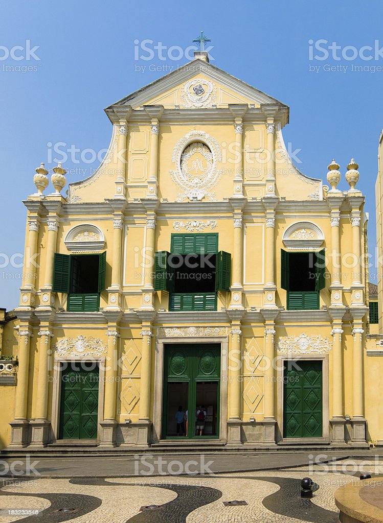 St. Dominic's Church, Macao, China stock photo