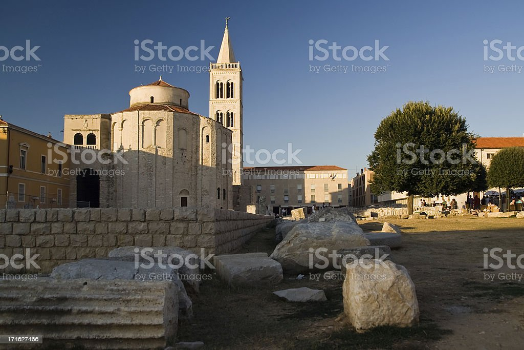 St. Donat, Zadar stock photo