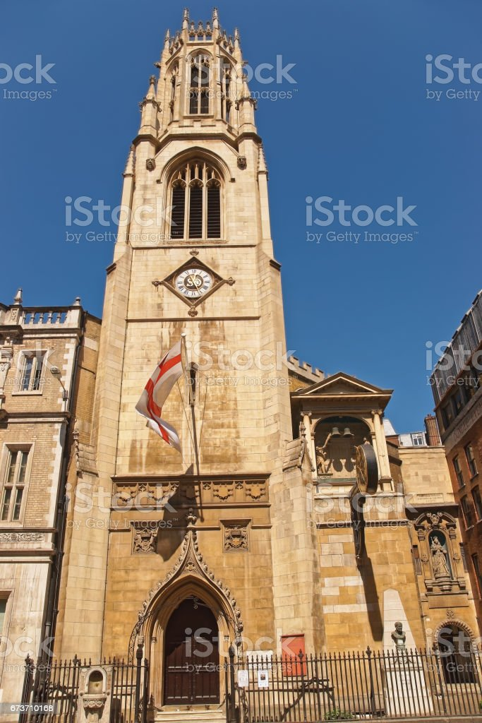 St Dunstan in West Church in Fleet Street London stock photo