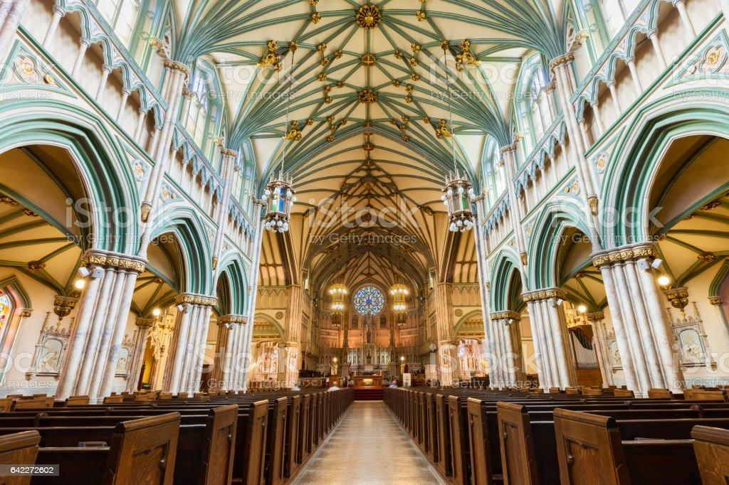 St. Dunstan's Basilica in Charlottetown Prince Edward Island Canada stock photo