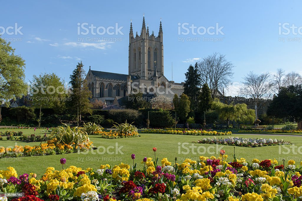 St Edmundsbury Cathedral stock photo