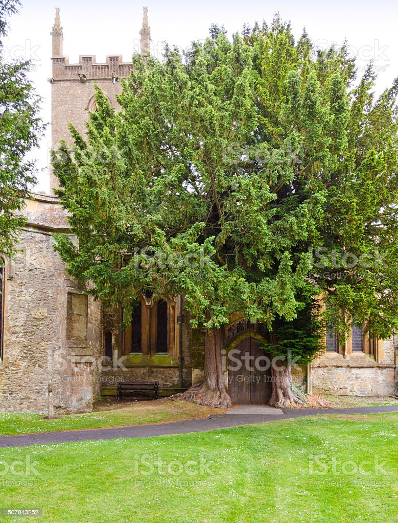 St. Edward's Church in Stow-on-the-Wold, Cotswold, England, United Kingdom. stock photo