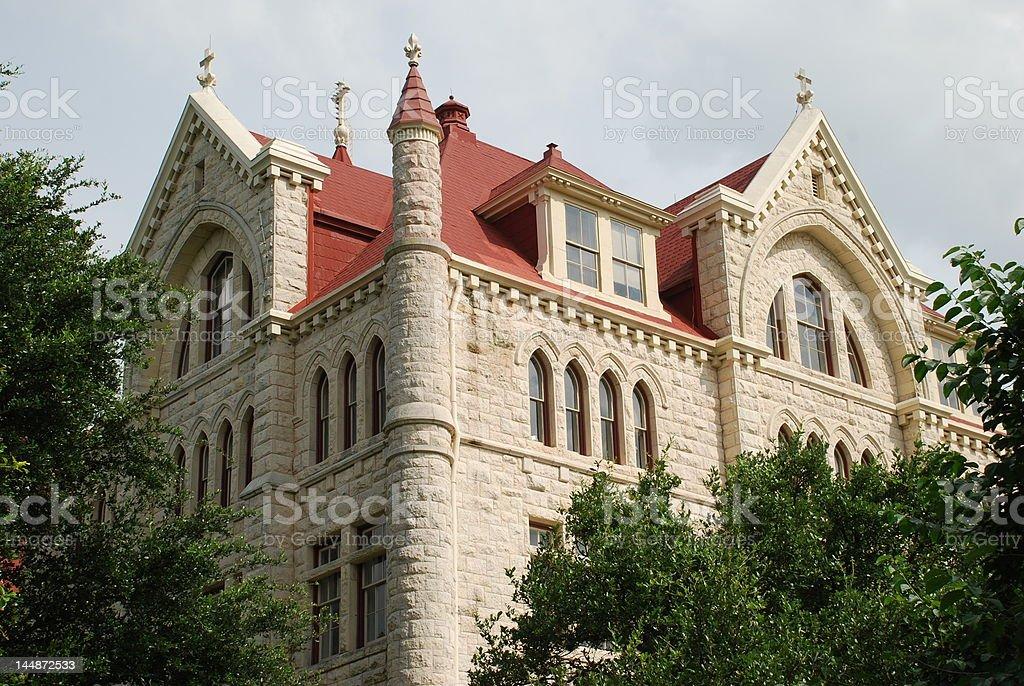 St. Edwards University Main Building stock photo
