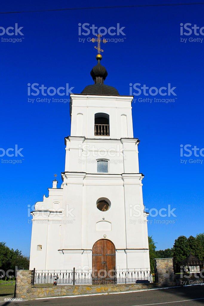 St. Elias Church in Subotiv village, Ukraine stock photo