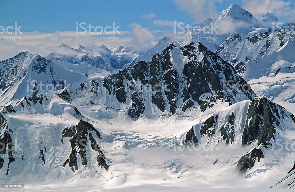 St Elias mountain range stock photo