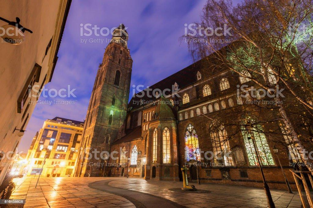 St. Elisabeth's Church in Wroclaw stock photo