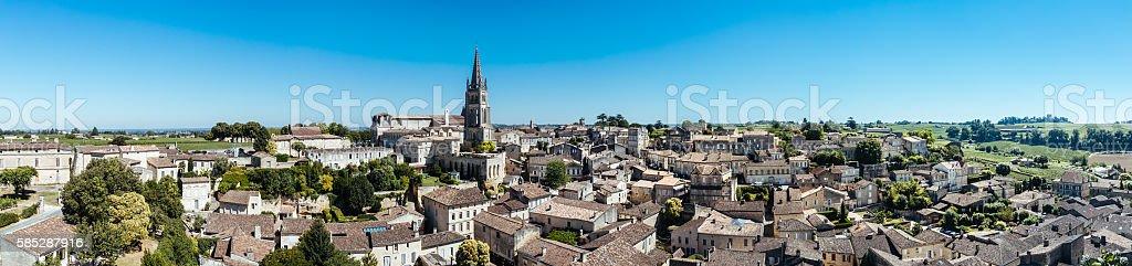 St Emilion, France, panorama stock photo