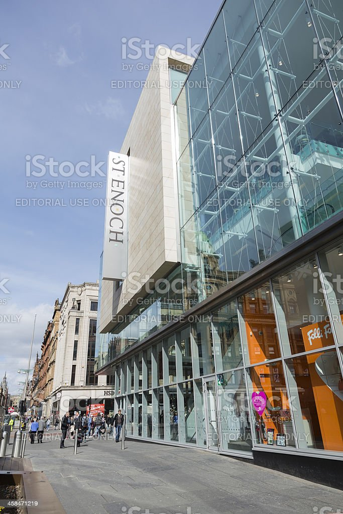 St Enoch Shopping Centre, Glasgow royalty-free stock photo