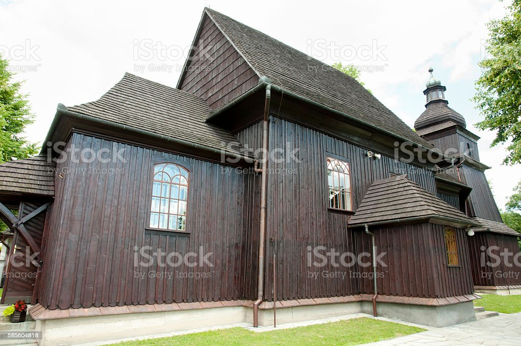 St Erasmus Church - Barwald Dolny - Poland stock photo