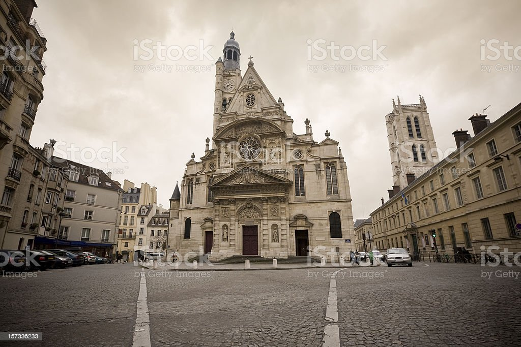 St Etienne du Mont Church, Paris, France stock photo