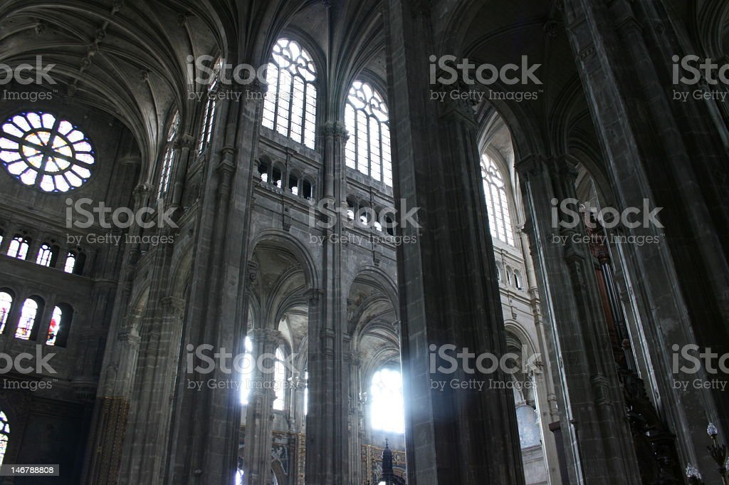 St Eustache Cathedral royalty-free stock photo