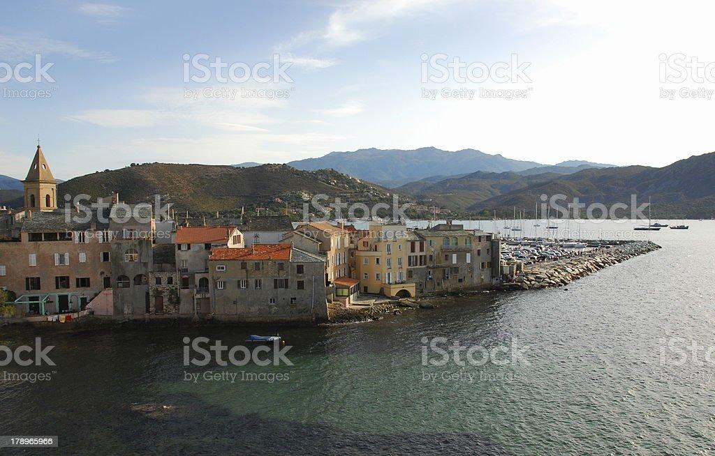 St Florent, Corsica stock photo