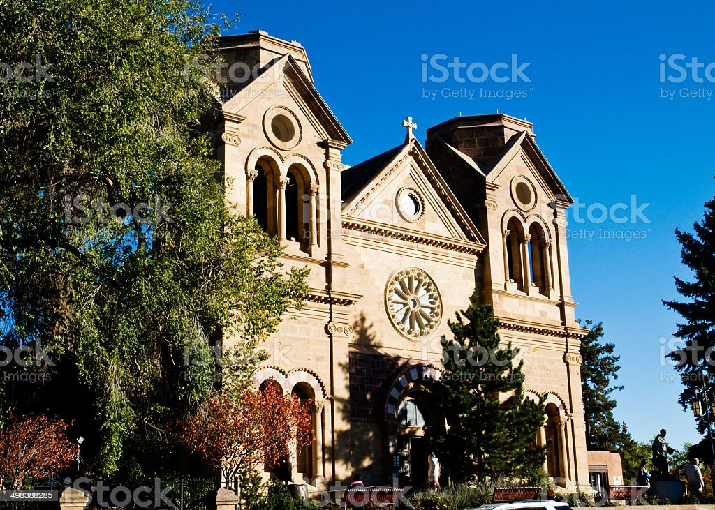 St. Francis Cathedral (Santa Fe, New Mexico) stock photo