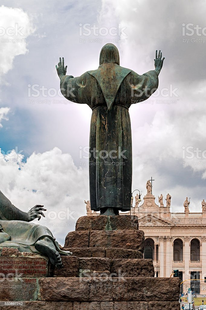 St. Francis in rome stock photo