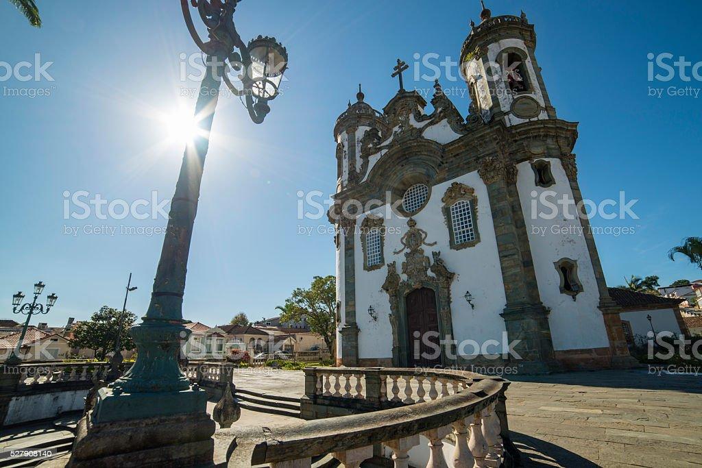 São Francisco de Assis Church at São João Del Rey stock photo