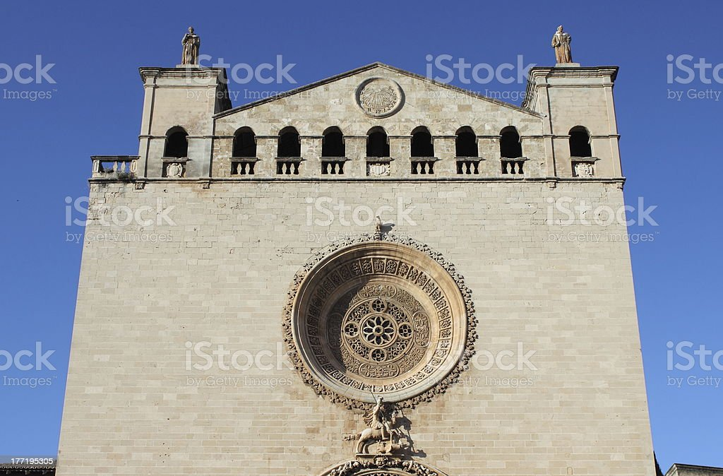 St. Francis of Assisi Basilica in Palma de Mallorca royalty-free stock photo