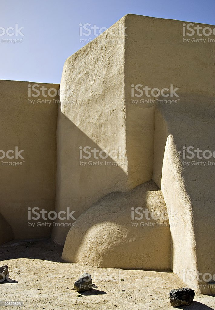 St. Francis Of Assisi Catholic Church - Taos, New Mexico stock photo