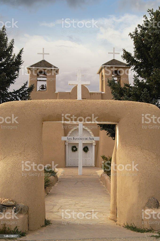 St. Francis of Assisi Church--Ranchos de Taos stock photo